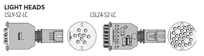LSL24-S2-LC 24 JJ9906 LED SPA LIGHT SLAVE W/LOCKING CONNECTOR (1/bag and 50/box and 8 boxes of 50 into a master box)